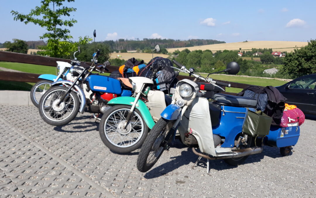 Stylová návštěva muzea – motorky Jawa